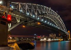City Lights (SydneyLens) Tags: city longexposure lights cityscape dusk au australia newsouthwales lunapark therocks harbourbridge sydneyharbor northsydney sydneyharbour