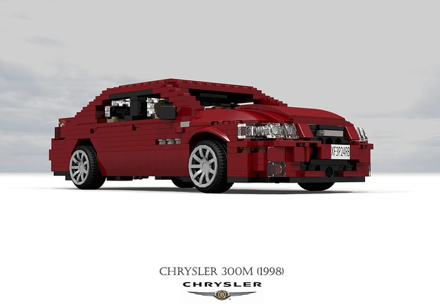 auto usa car america sedan us model lego stuck render m renault corporation concorde 1998 chrysler 300 amc saloon challenge 92 1990s 90s lhs cad lugnuts v6 povray moc 300m ldd miniland lego911 stuckinthe90s