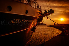 Alex Von Humboldt II (Photographer Dave C) Tags: sunset sea summer sky sun seascape colour canon skyscape photography pier ships photograph passion stunning nautical tallships photographerdave northernirealnd canon400d mymindseye mygearandme canonofficial tallshipsbelfast2015