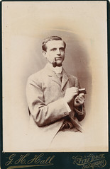 Strike a Light! Victorian Man with Pipe - Chap (Parsonago) Tags: old uk vintage found lost photography photo interesting pipe retro smoking odd oxford chp match strike matches chap thechapmagazine tallyhooxford tallyhooxfordcom foundphotouk