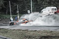 Splash Drift IV (Sonick Photographie) Tags: orange 3 black water car sport puddle eau slide voiture projection bmw splash serie touge deutsch drift flaque noire allemande pipay