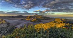 Sunrise on Bromo (Fil.ippo) Tags: panorama mountain sunrise indonesia landscape volcano alba gunung hdr filippo bromo semeru batok sigma1020 d7000 filippobianchi gunungpenanjakanvolcano