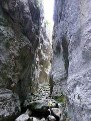 """Climbing up rocks in the Celano Gorge • <a style=""""font-size:0.8em;"""" href=""""http://www.flickr.com/photos/41849531@N04/19565921308/"""" target=""""_blank"""">View on Flickr</a>"""
