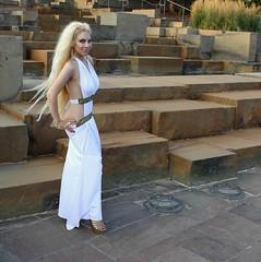 Luna as Spartan Queen Moon Goddess (I*Am*The*Great*Moon*Goddess*) Tags: hair greek model toes long cosplay roman painted magic goddess queen blonde 300 gown playful myth toenails spartan