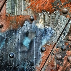 Bathurst Street Bridge Textures (@ThetaState) Tags: bridge toronto ontario canada metal rust paint rivets august bathurststreet 2015 iorn