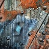 Bathurst Street Bridge Textures (JamesAnok || ThetaState) Tags: bridge toronto ontario canada metal rust paint rivets august bathurststreet 2015 iorn