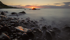 Wet Rocks at Dawn (Grant Morris) Tags: kinghorn fife fifecoast fifecoastalpath scotland seaside seascape seashore sunrise sunriseoverwater waterscape waterfront water rocks wetrocks blackrocks grantmorris grantmorrisphotography canon 1635 nd nd10 longexposure