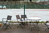 Thin Layer Of Snow (pni) Tags: tennis court fence snow table chair seating chainlink helsinki helsingfors finland suomi pekkanikrus skrubu pni