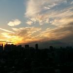 Sonnenuntergang über Tokyo