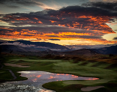 Early Tee-time 2 (1 of 1) (DavidGuscottPhotography) Tags: red dawn golf sunrise yellow