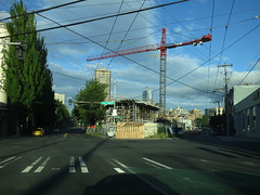The Regrettable Sand Crawler (Blinking Charlie) Tags: emadisonstreet eunionstreet 12thavenue towercrane constructionsite lombardypoplar firsthillplaza urbanlandscape 2013 canonpowershots100 seattle washingtonstate usa blinkingcharlie twounionsquare thewedge thesandcrawler