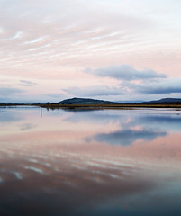 First light (jeansinclair1) Tags: scotland fife newburgh rivertay clouds reflections dawn pink