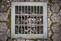Don't litter. (Peapotty) Tags: 55200mm stm street drain litter canon eos m5 efm cigarette kurumeshi fukuokaken japan jp