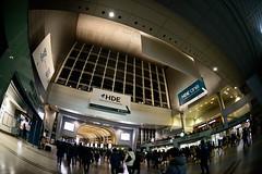 Shinagawa (H.H. Mahal Alysheba) Tags: tokyo wide fisheye snapshot station people architecture night nikon d800 sigma 15mmf28
