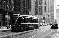 Untitled (Howard Yang Photography) Tags: streetcar streetphotography winter snow toronto sonyrx1r financialdistrict
