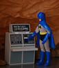 Analyzing Data (Decepticreep) Tags: brucewayne mego batman batcave batcomputer removablecowl gotham