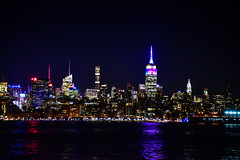 Midtown Manhattan Skyline at Night New York City NY (mbell1975) Tags: jerseycity newjersey unitedstates us midtown manhattan skyline night new york city ny evening nights citylights lights skyscraper skyscrapers office buildings building hudson river water newyork nyc usa america american empire state empirestatebuilding