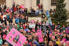 WomensMarchOlympia2016-6180LR (Madeline McIntire Houston) Tags: clothing colorphotograph colorful crowd crowding demonstrating demonstration event events face group hat holding olympia people pink protestsign pussyhat sign thurstoncounty washingtonstate washingtonstatecapitolcampus winter womensmarch protest
