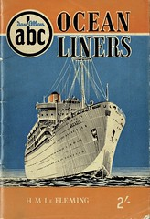 Ian Allan ABC of Ocean Liners by H M Le Fleming, cover by A N Wolstenholme, 1954 (mikeyashworth) Tags: mike ashworth collection mikeashworthcollection ianallan ianallanabc abcofoceanliners 1954 anwolstenholme graphicdesign shippingillustration scraperboard ssarcadia poline shipping hmlefleming