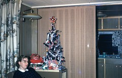 img092 (foundin_a_attic) Tags: 1950s christmas tree star woman fashion