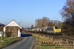 SNCB - 1301 (MarcArtigues) Tags: brussels belgische spoorwegen sncb hennuyéres 1031 bb 36000 alstom bombardier nmbs cereal train electric locomotive vtg millet