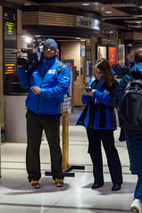20170224-2017--2.jpg (GDMetzler) Tags: nikon trains chicago d90 illinois winter unionstation cbs channel2 reporter girl camera commuter