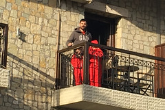 On the Balcony (RobW_) Tags: boys balcony filoxenia hotel kalavryta peloponnese greece tuesday 14feb2017 february 2017