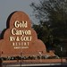 Gold Canyon RV & Golf Resort sign