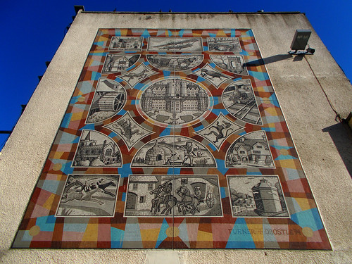Sutton Heritage Mosaic, Turner and Drostle, Sutton, Surrey, Greater London
