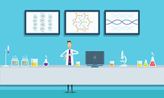 Print (andrfilms) Tags: school test illustration thailand design education lab technology background coat tube experiment science equipment medical pharmacy research chemistry laboratory biology vector scientist biotechnology chemical analysis scientific