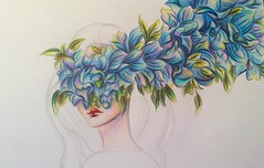 girl6f (lilac-girl90) Tags: old flowers blue art love floral girl beauty lady painting spring artwork acrylic photos surreal drawings wip baghdad draw watercolors صور لوحة ورد فن تصويري رسومات عراق رسم بغداد سريالي