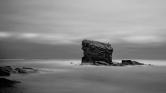 Detached (Lindi m) Tags: longexposure blackwhite erosion northumberland hartley seastack charliesgarden