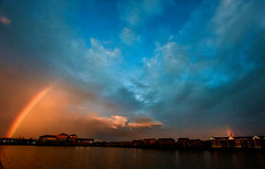 Disappear and appear (fran01101) Tags: world uk blue sky orange cloud nature rain amazing rainbow nikon outdoor preston disappear 1424 d810 riverways