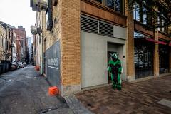 Green Thing (David Guidas) Tags: city urban green monster pittsburgh fujifilm nik 1024 anthrocon xt10