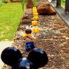 Temple Joe (181/365) (robjvale) Tags: game treasure lego coins mickey beast blocks templerun adventurerjoe
