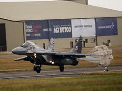 Polish Air Force MiG-29 Fulcrum (MJ_100) Tags: plane airplane fighter aircraft aviation jet poland polish aeroplane airshow mig fairford riat mig29 2015 fulcrum mikoyangurevich polishairforce
