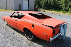 Mercury Cyclone shell (osubuckialum) Tags: road old orange classic cars 1969 nc mercury northcarolina troy restore rough roadside 69 cyclone unrestored 2015