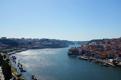 Douro River (Rio Douro) (mzcrazymz) Tags: bridge blue portugal water river porto arrbida douro riodouro vilanovadegaia 5photosaday