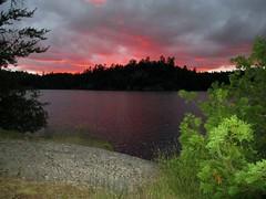 Ottertrack sunset (briandjan607) Tags: sunset lake cypress boundarywaters bwca bwcaw otttertrack