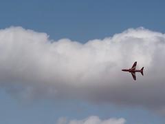 Red Arrow (a_t_b321) Tags: red sky cloud plane airplane jet olympus aeroplane planes raf omd fairford riat redarrow royalinternationalairtattoo royalairforce em10 raffairford 40150mm micro43 40150r