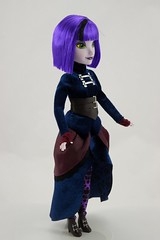Disney Parks Attractionista Dolls - Disneyland Purchases - Gracey (Haunted Mansion) with Hat - Deboxed - Standing - Full Left Front View (drj1828) Tags: standing us doll disneyland haunted mansion purchase 12inch 2015 gracey disneyparks deboxed attractionista