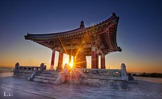 Sunset at Korean Bell of Friendship