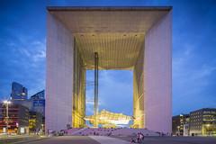 The Grand Arch - La Defense (Mike Franks) Tags: paris architecture cityscape ladefense 24mm grandarche grandarch tiltshift esplanadedeladefense