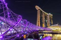 Singapore Helix Bridge (ShiroWengPhotography) Tags: shiroweng photography malaysia singapore helix bridge landscape tau tauphotography night sand hotel marina bay marinabay light slow shutter river life