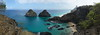 Porcos (dotcomdotbr) Tags: fernando de noronha pernambuco praia mar sony alpha a77 sal1650 pano panoramica água sancho baía porcos morro rocha dois irmãos