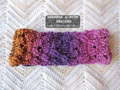 MessyBunHeadWrap Rainbow01a (zreekee) Tags: crochet sparkledoomdesigns rainbow crochetrend messybun headwrap