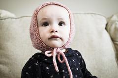 r o s e (dear emma rae) Tags: mymakingstory knits knitting ravelry handmade babyphotos bonnet babybonnet dearemmarae emmarae babyknits handmadebaby