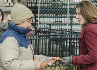 Chantal de Alcuaz Hands Out Flyers About Guantánamo