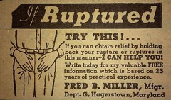 Ruptured Advertisement (kevin63) Tags: lightner ruptured hernia drawing truss try this hands groin