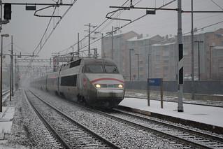 TGV 9250 in transito a Collegno(TO)